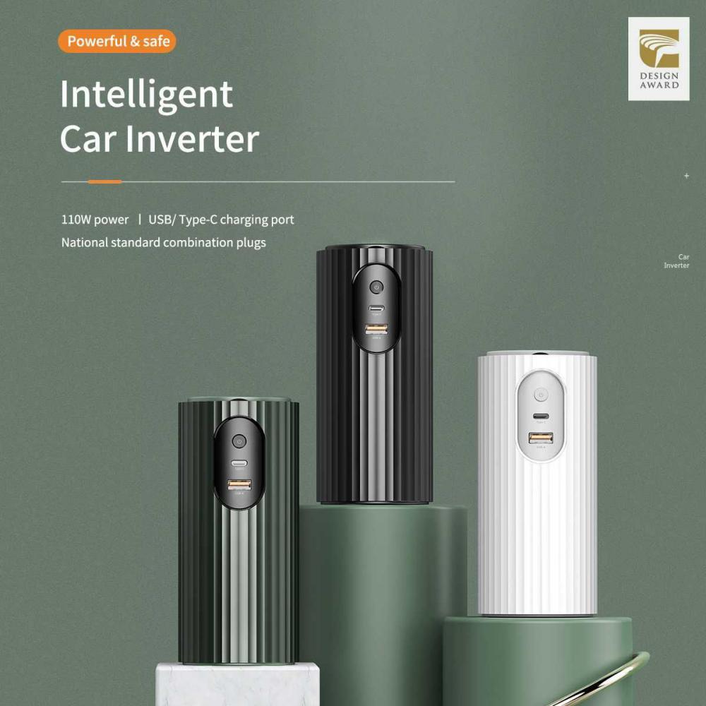 Rock Car Inverter Type C Usb Power Slot Car Inverter Charger (3)