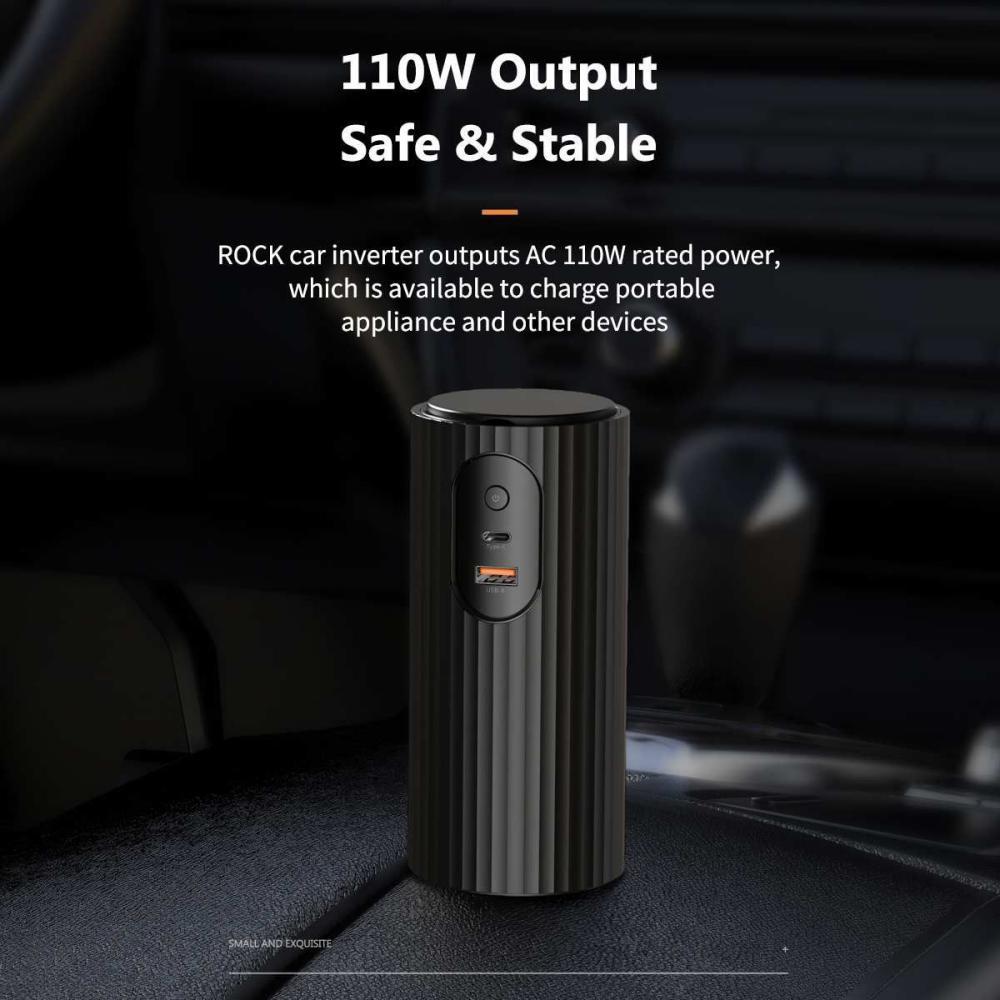 Rock Car Inverter Type C Usb Power Slot Car Inverter Charger (6)