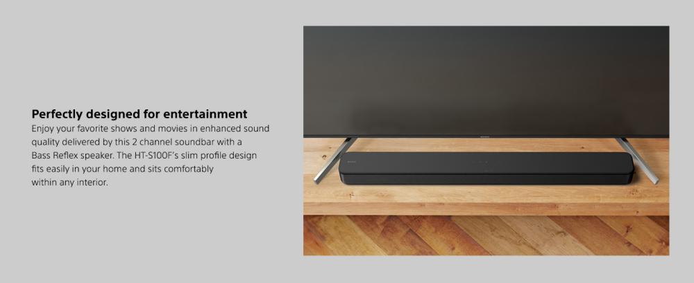 Sony S100f 2 0ch Soundbar Bass Reflex Speaker (2)