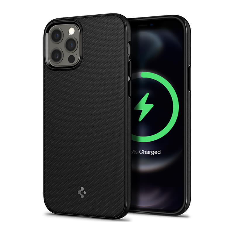 Spigen Mag Armor Case With Magnetic Charger Compatibl For Iphone 12 Series (1)