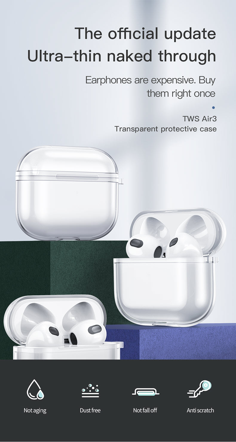 Totu Clear Transparent For Airpods Pro (2)