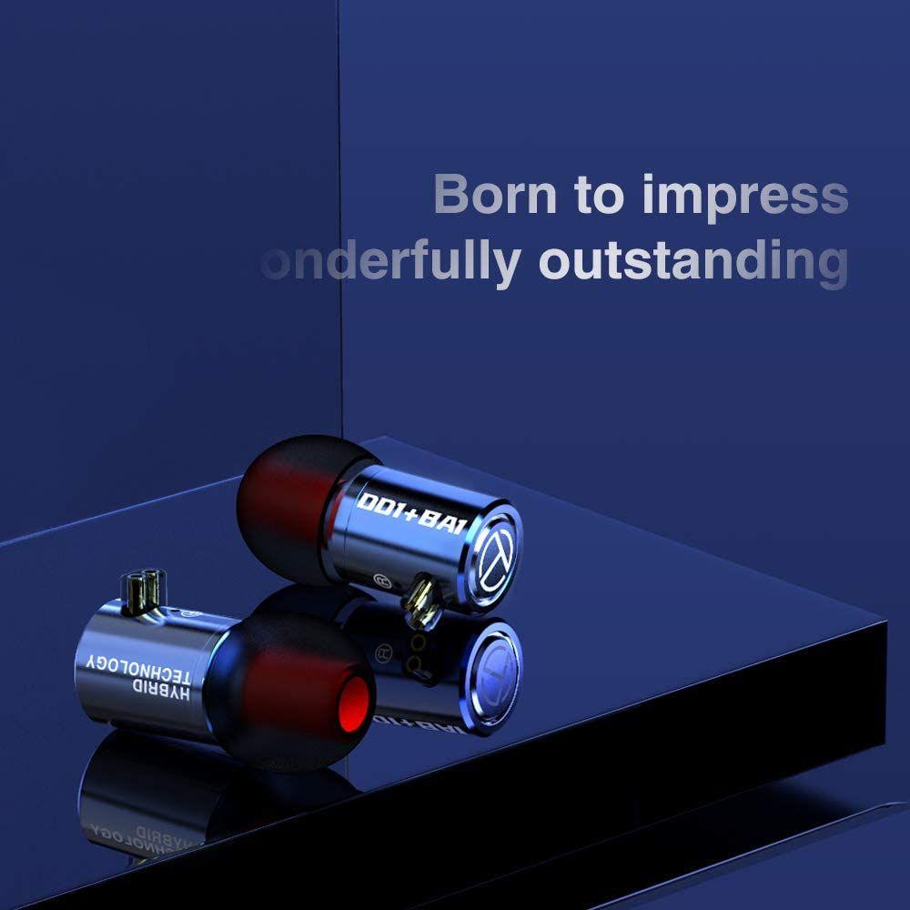 Trn M10 1ba1dd Metal Hybrid In Ear Monitor Earphone (2)