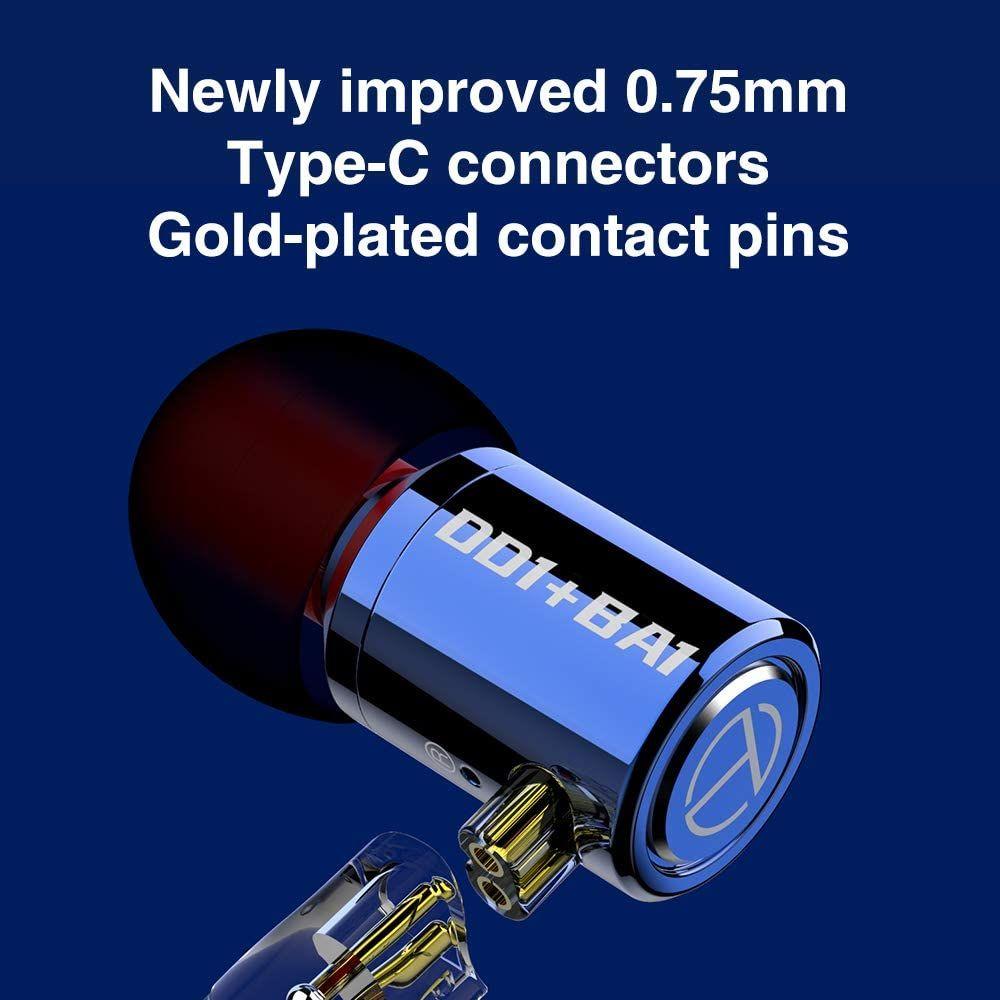 Trn M10 1ba1dd Metal Hybrid In Ear Monitor Earphone (3)