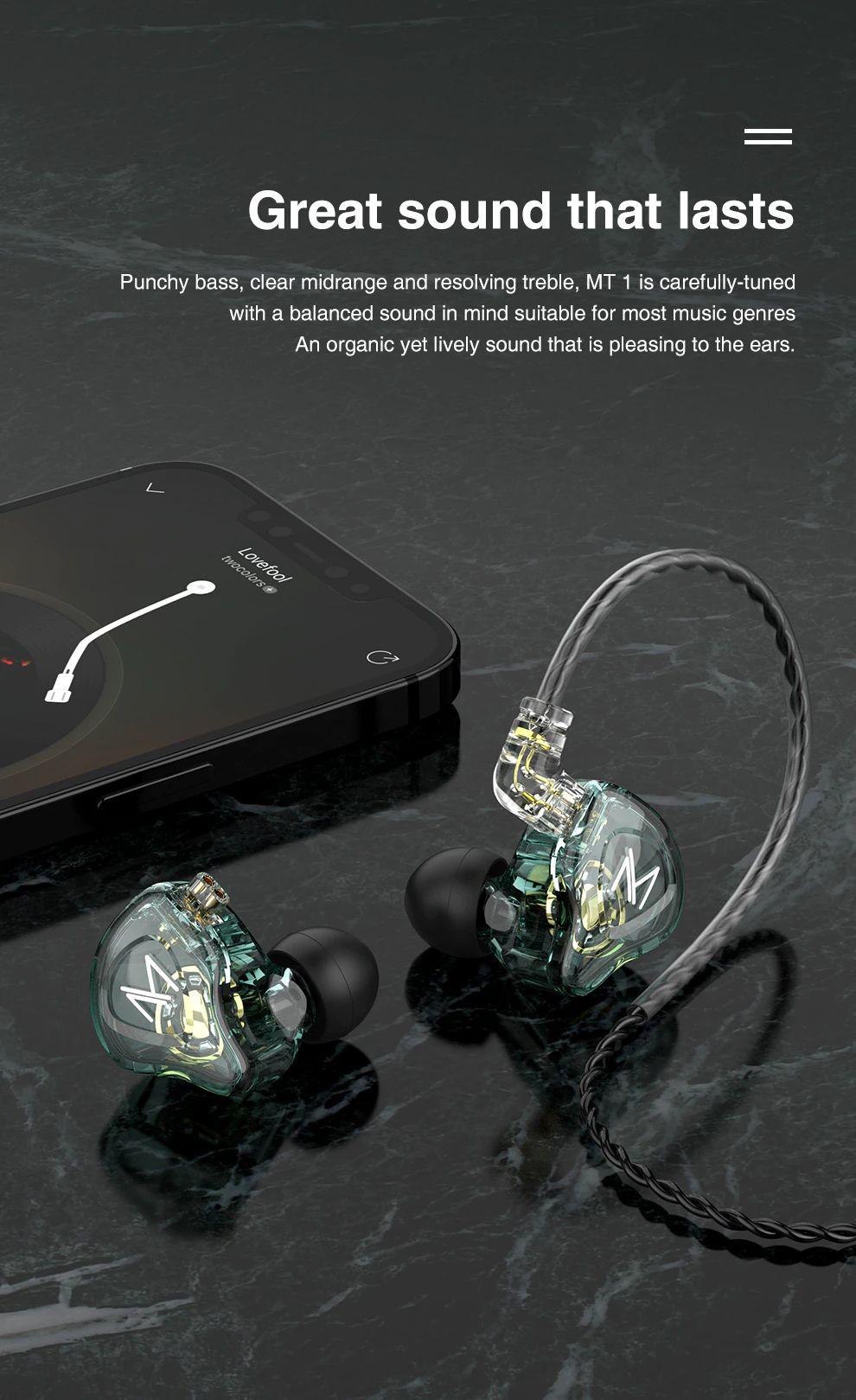 Trn Mt1 Hi Fi 1dd Dynamic In Ear Earphone (4)