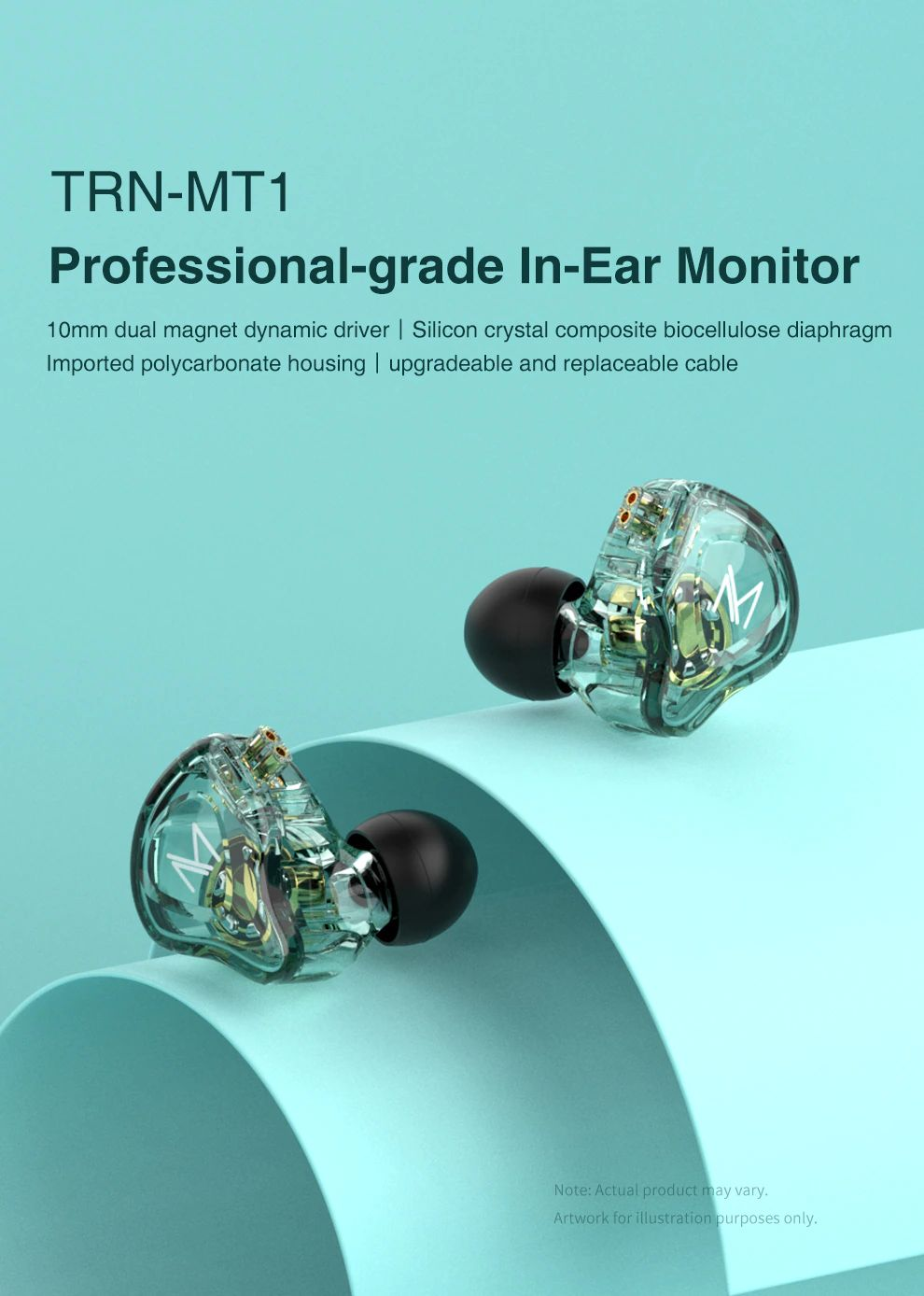 Trn Mt1 Hi Fi 1dd Dynamic In Ear Earphone (5)