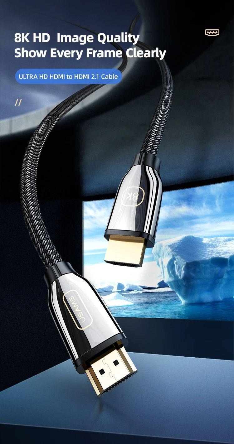 Usams U67 Hdmi To Hdmi 2 1 Video Cable 8k 3 Meter (1)