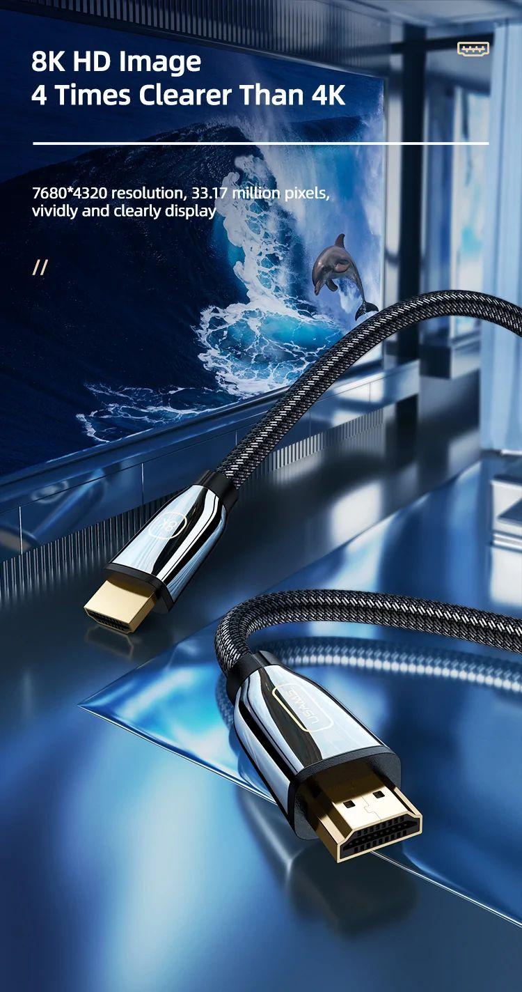 Usams U67 Hdmi To Hdmi 2 1 Video Cable 8k 3 Meter (6)