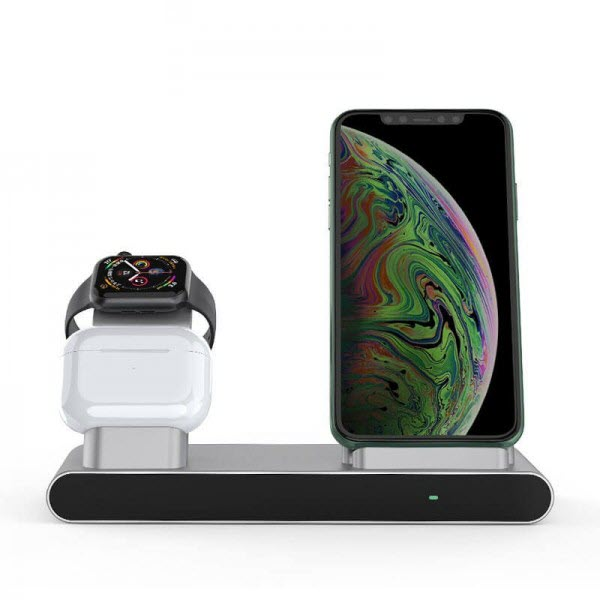 Wiwu 18w Power Air 3 In 1 Wireless Charger For Iphone Iwatch Airpods (3)