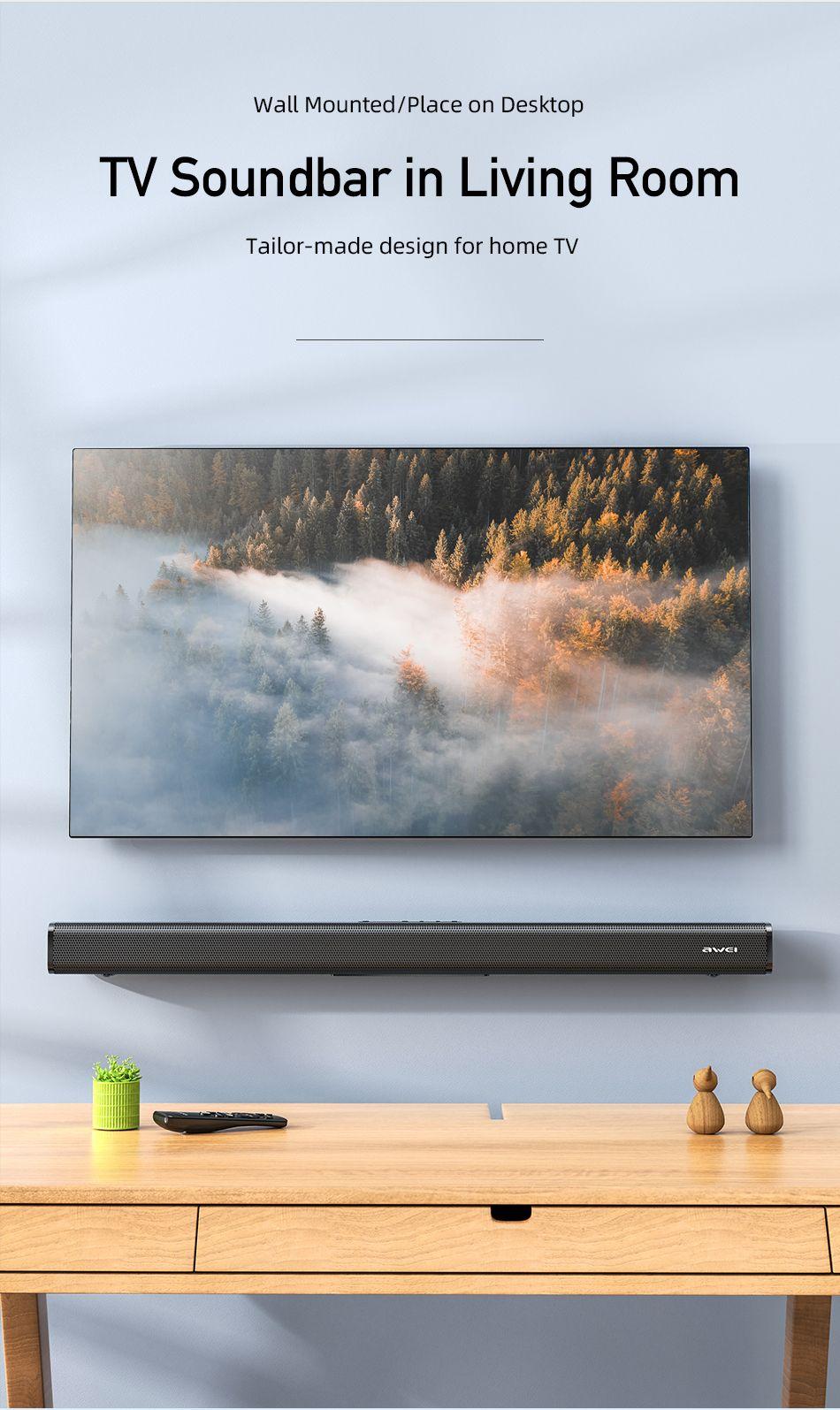 Awei Y999 50w Home Theater Wireless Speaker Soundbar (3)