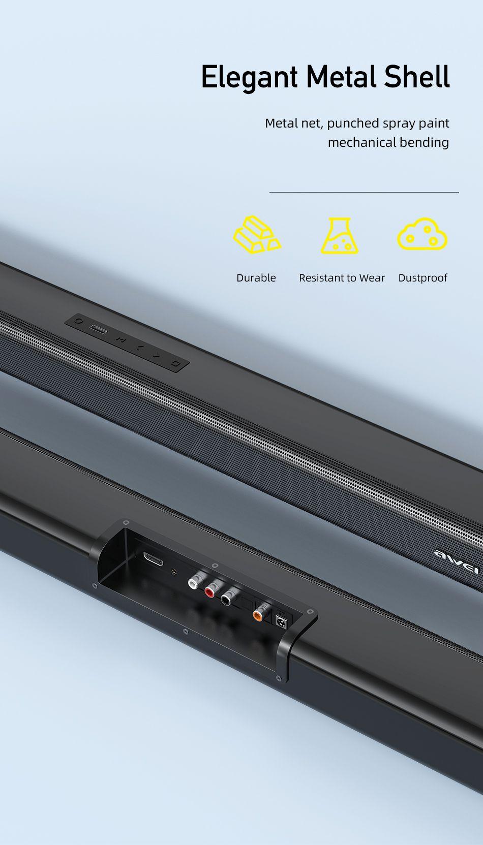 Awei Y999 50w Home Theater Wireless Speaker Soundbar (4)