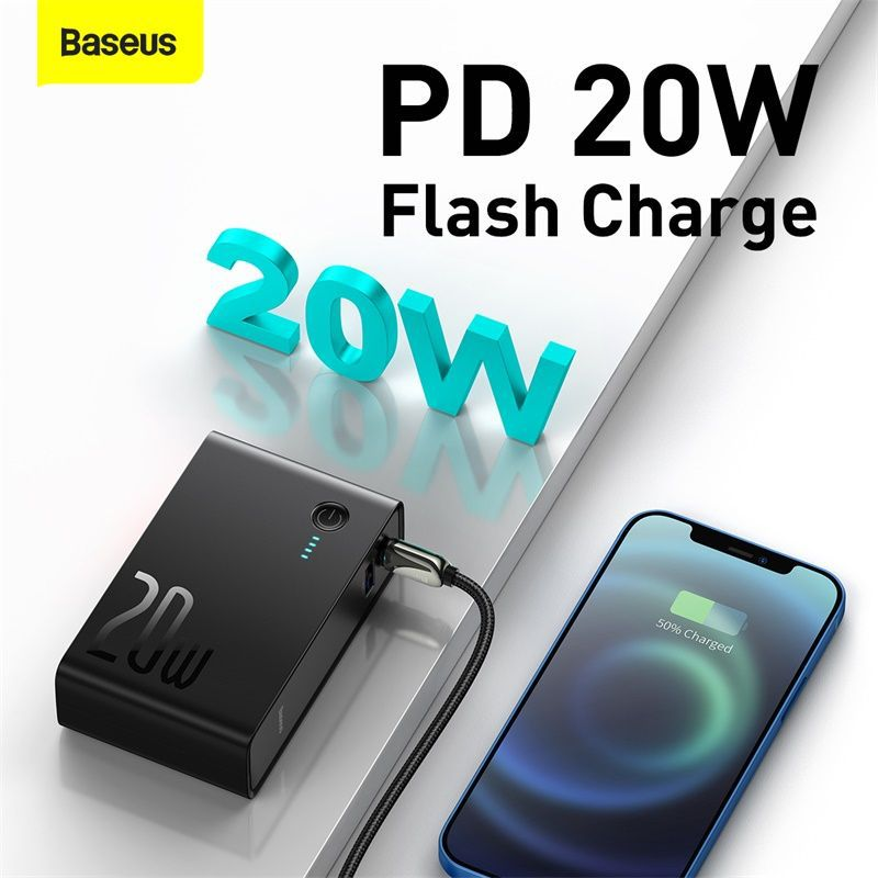 Baseus 20W Power Station 2 USB Type-c Charger 10000mah Power Bank 2