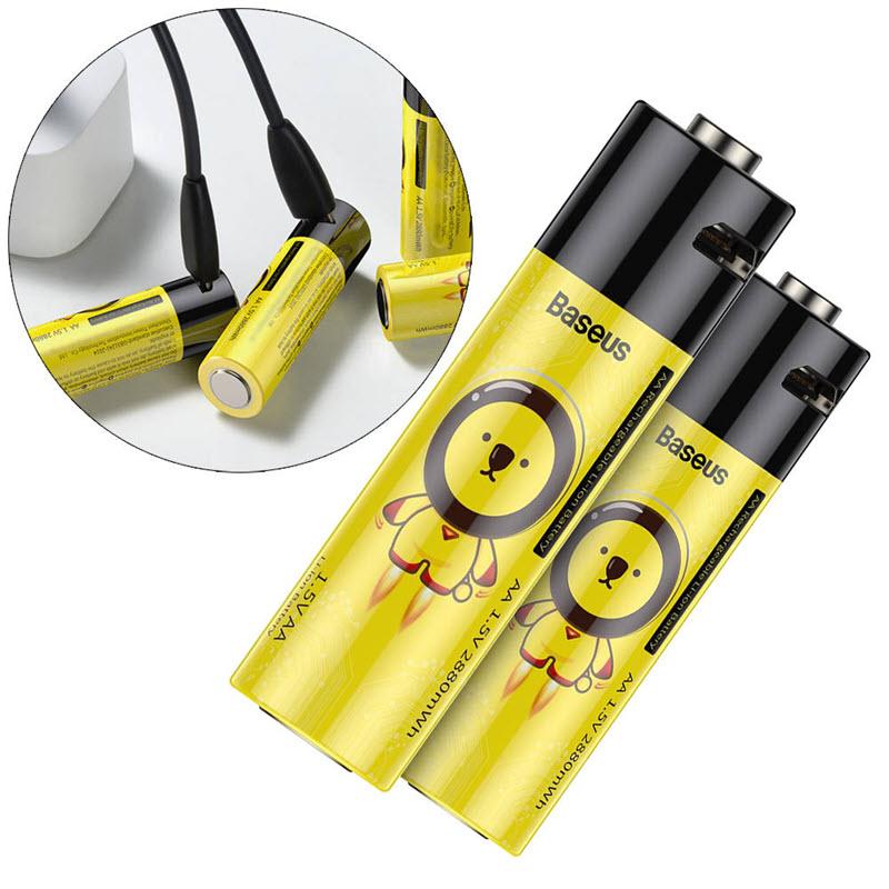 Baseus Aa Rechargeable Li Ion Battery 2pcs (1)