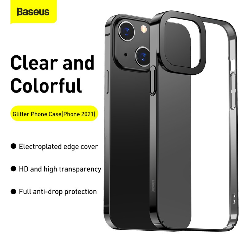 Baseus Glitter Transparent Protective Case Cover For Apple Iphone 13 Series (11)