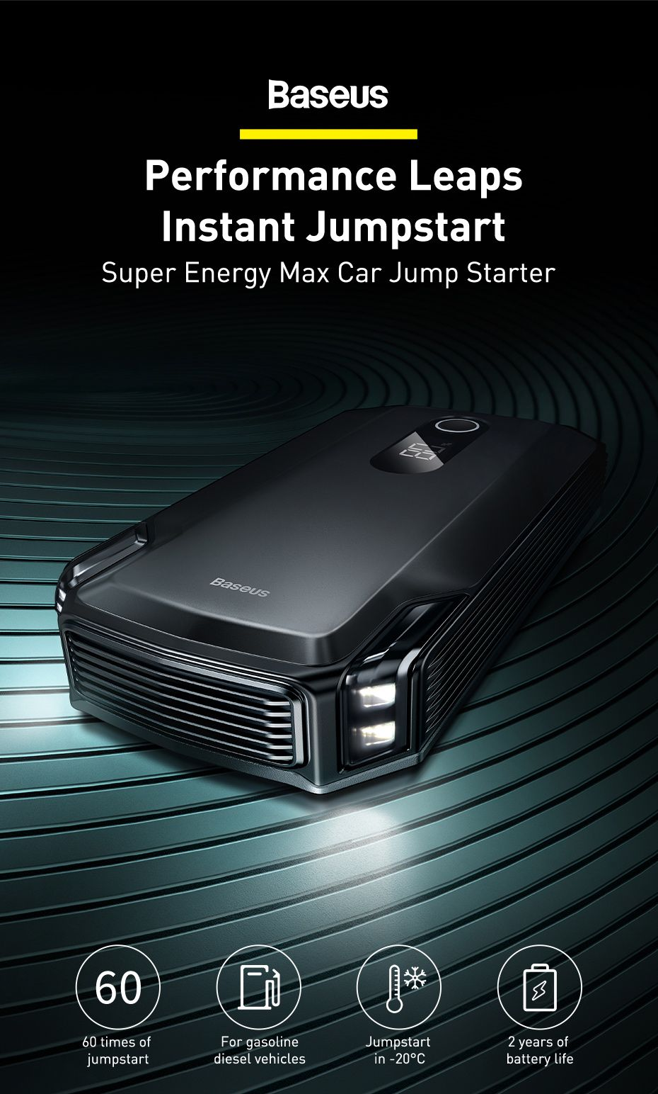 Baseus Super Energy Max Car Jump Starter 20000mah (2)