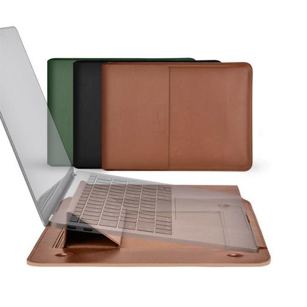 Coteetci Multifunctional Leather Liner Bag For Macbook Air Pro 13 Inch (4)