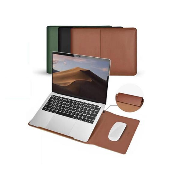 Coteetci Multifunctional Leather Liner Bag For Macbook Air Pro 13 Inch (5)