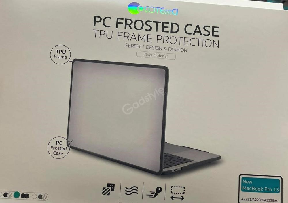 Coteetci Pc Frosted Case Tpu Frame Protection For 2020 Macbook Pro 13 A2289 A2251 A2338 (2)