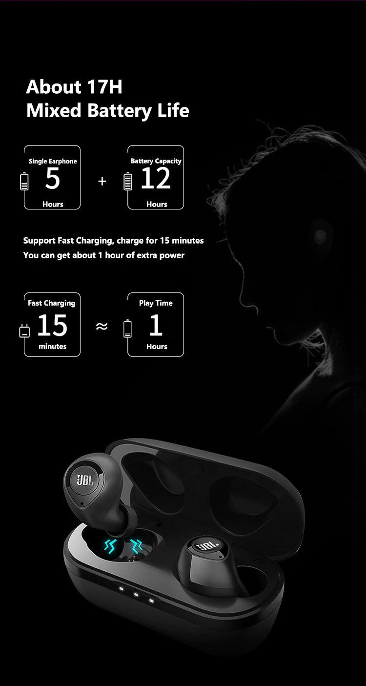 Jbl C100 Tws Wireless Bluetooth Earphones (1)