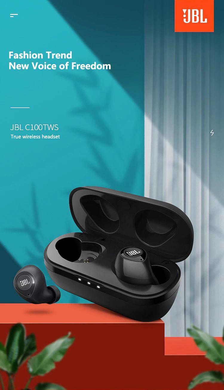 Jbl C100 Tws Wireless Bluetooth Earphones (3)