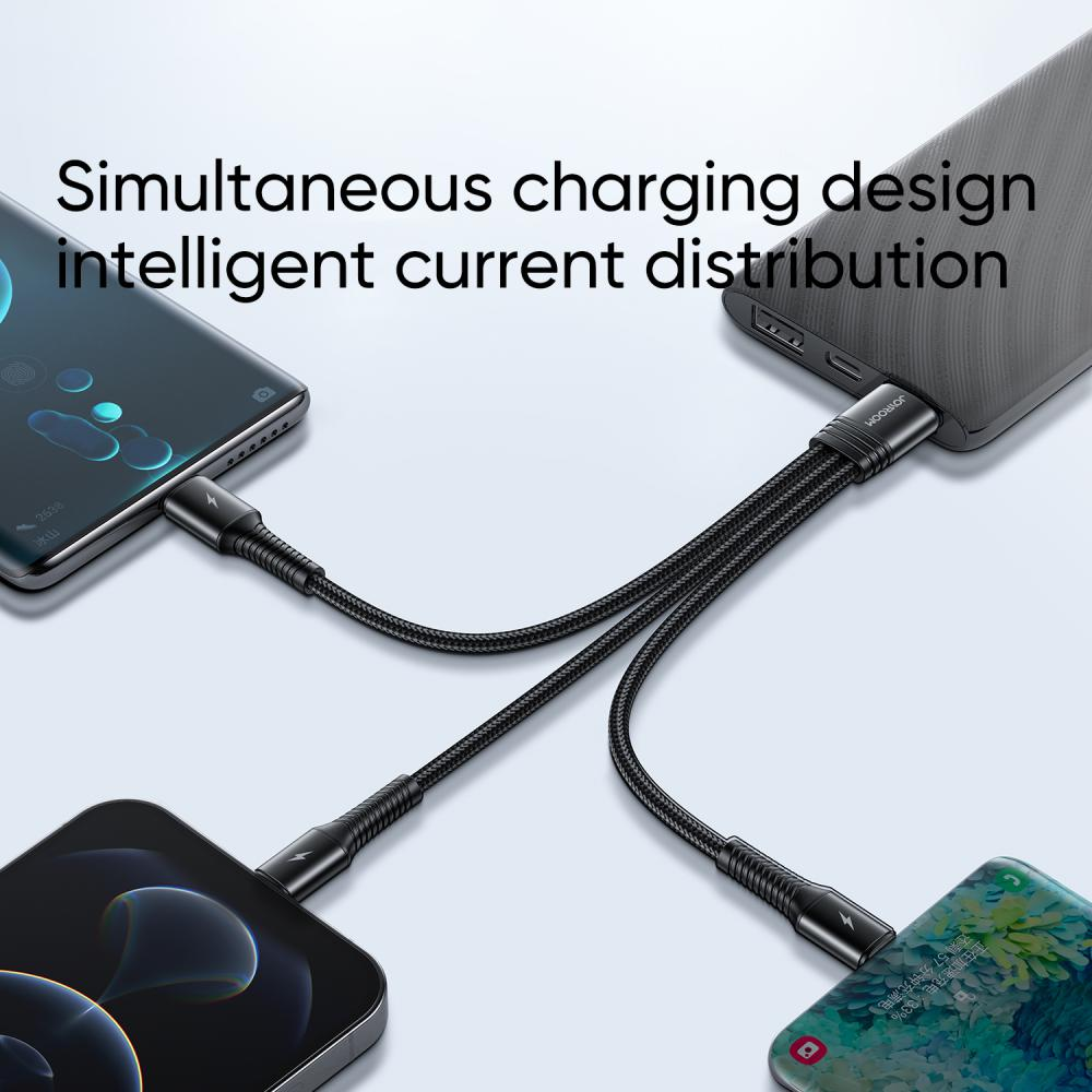Joyroom 3 In 1 Cable 3 5a Usb C Lightning Micro Usb (3)