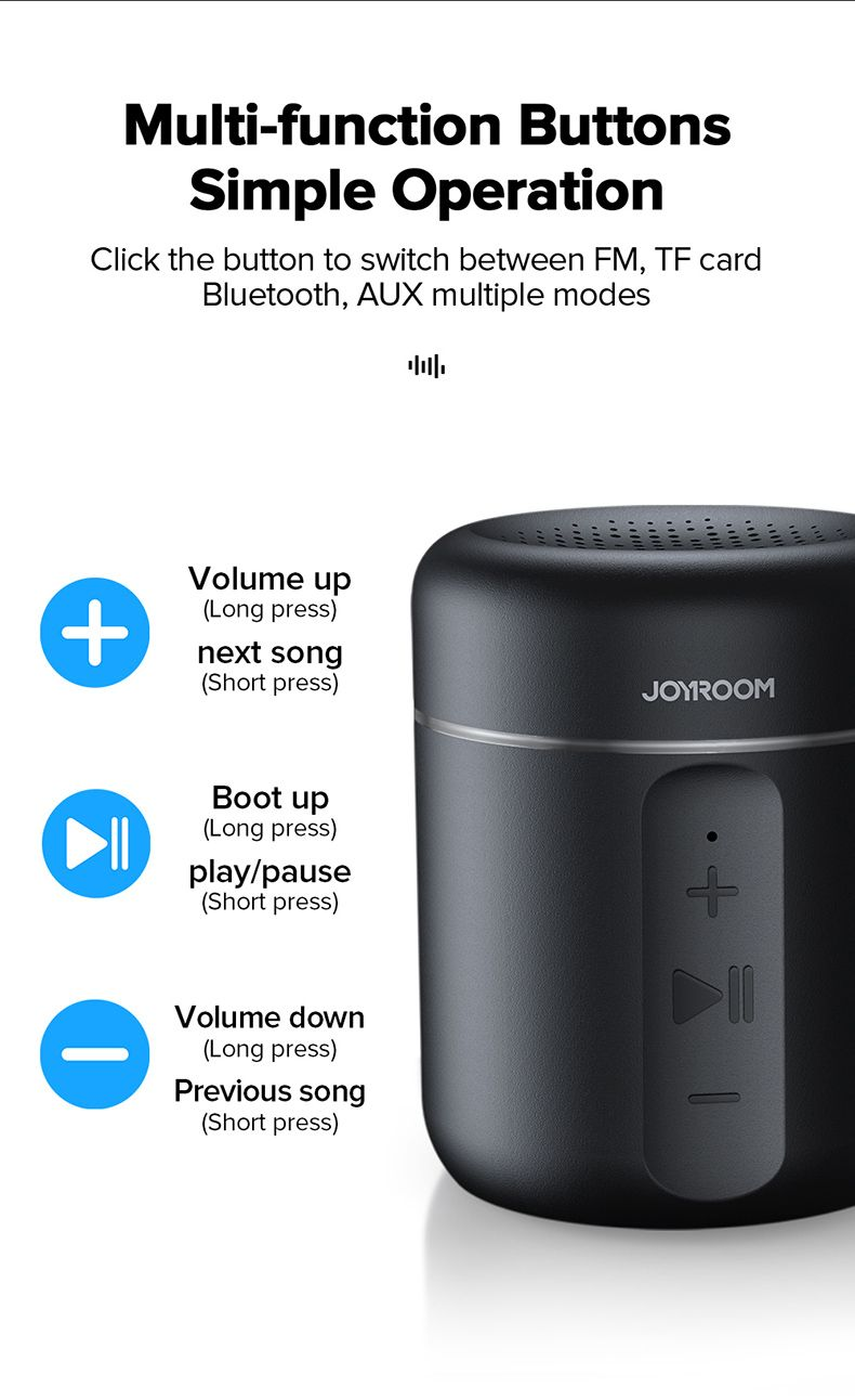 Joyroom Jr Ml02 Ipx7 Waterproof Bluetooth Speaker Wireless (1)