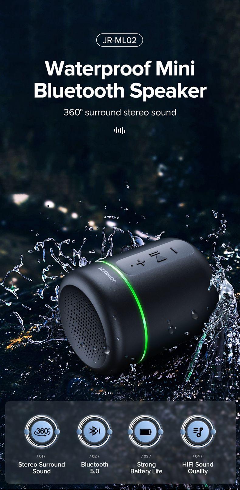 Joyroom Jr Ml02 Ipx7 Waterproof Bluetooth Speaker Wireless (3)