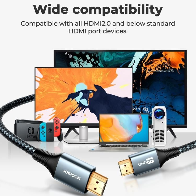 Joyroom Sy 20h1 4k 60hz Hdmi To Hdmi Adapter Cable 200cm (4)