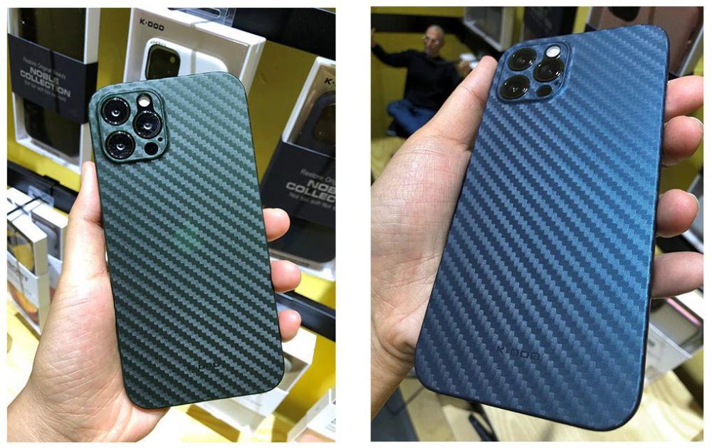 K Doo Air Carbon Fiber Pattern Ultra Slim Case For Iphone 12 12 Mini 12 Pro 12 Pro Max (2)