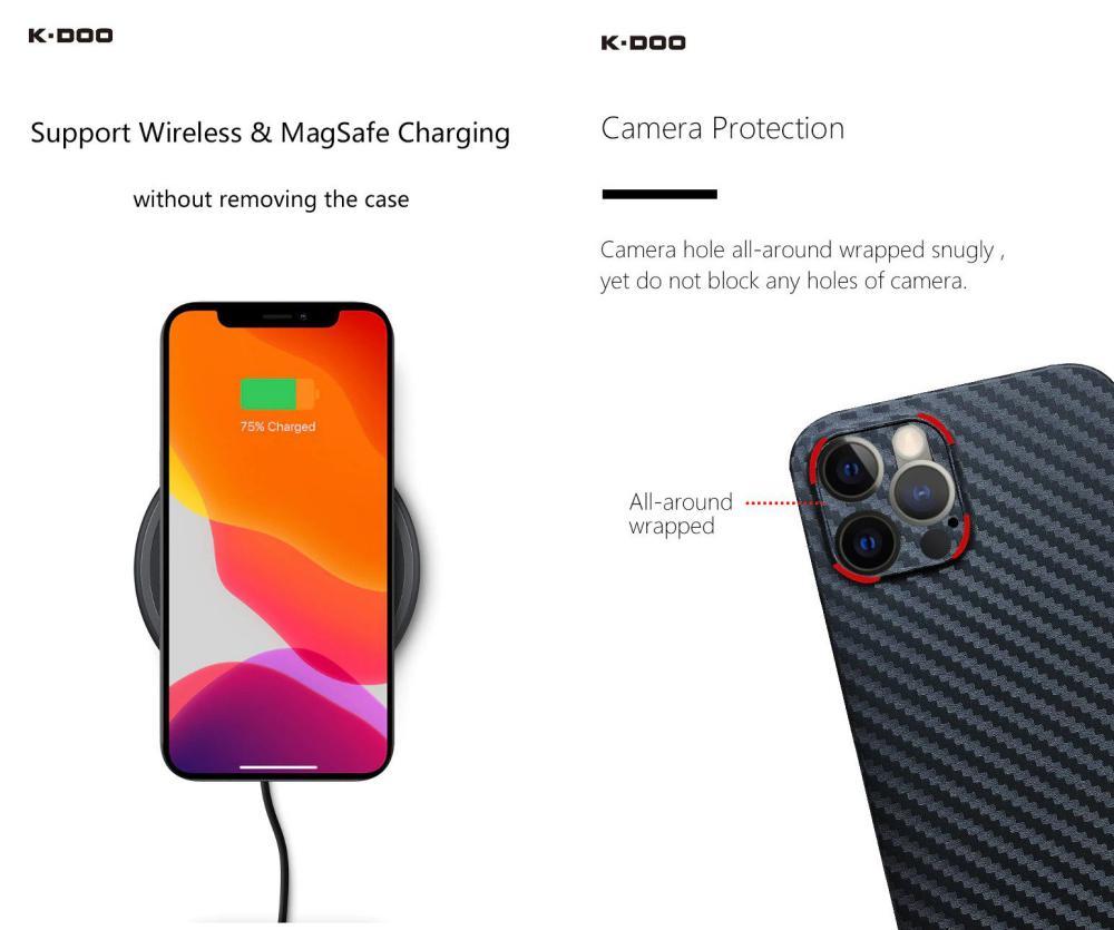 K Doo Air Carbon Fiber Pattern Ultra Slim Case For Iphone 12 12 Mini 12 Pro 12 Pro Max (3)
