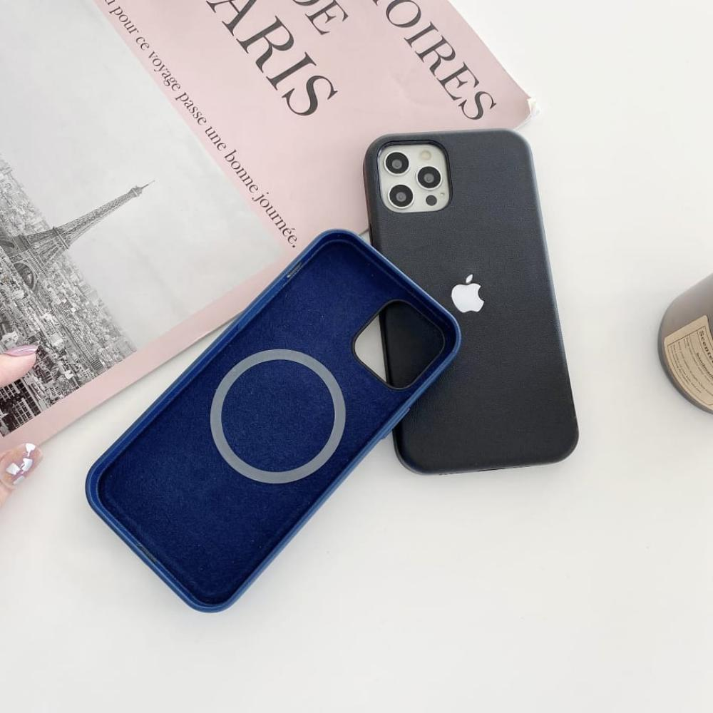 Leather Led Case With Magsafe Charging For Iphone 12 12pro 12 Pro Max (3)