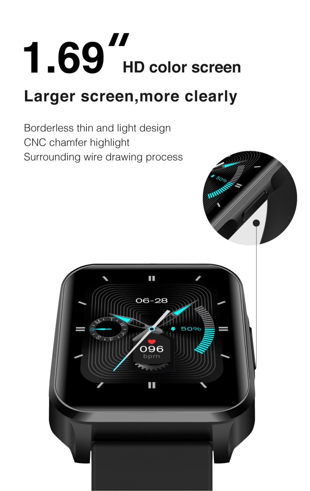 Lenovo S2 Pro Smart Watch Ip67 Waterproof Ips Full Screen (4)
