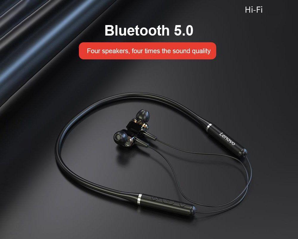 Lenovo XE66 Pro Dual Dynamic Neckband Wireless Earphones