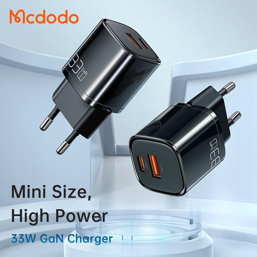 Mcdodo Eu Plug 33w Gan Dual Ports Usb A And Usb C Pd Qc Fast Charger (4)