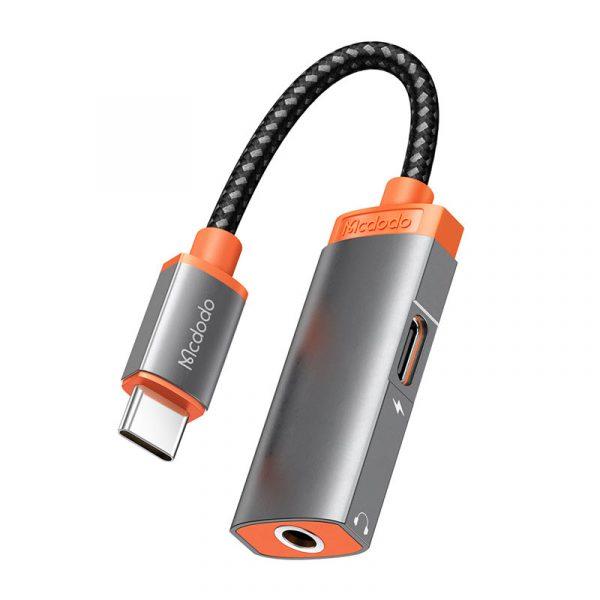 Mcdodo Mdd Ca 050 Digital Audio Earphones Adapter With Dc3 5mm Jack Type C Charging Port (5)