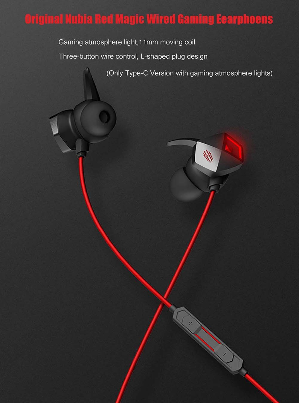 Nubia Red Magic Wired Gaming Earphones Type C Edition (2)