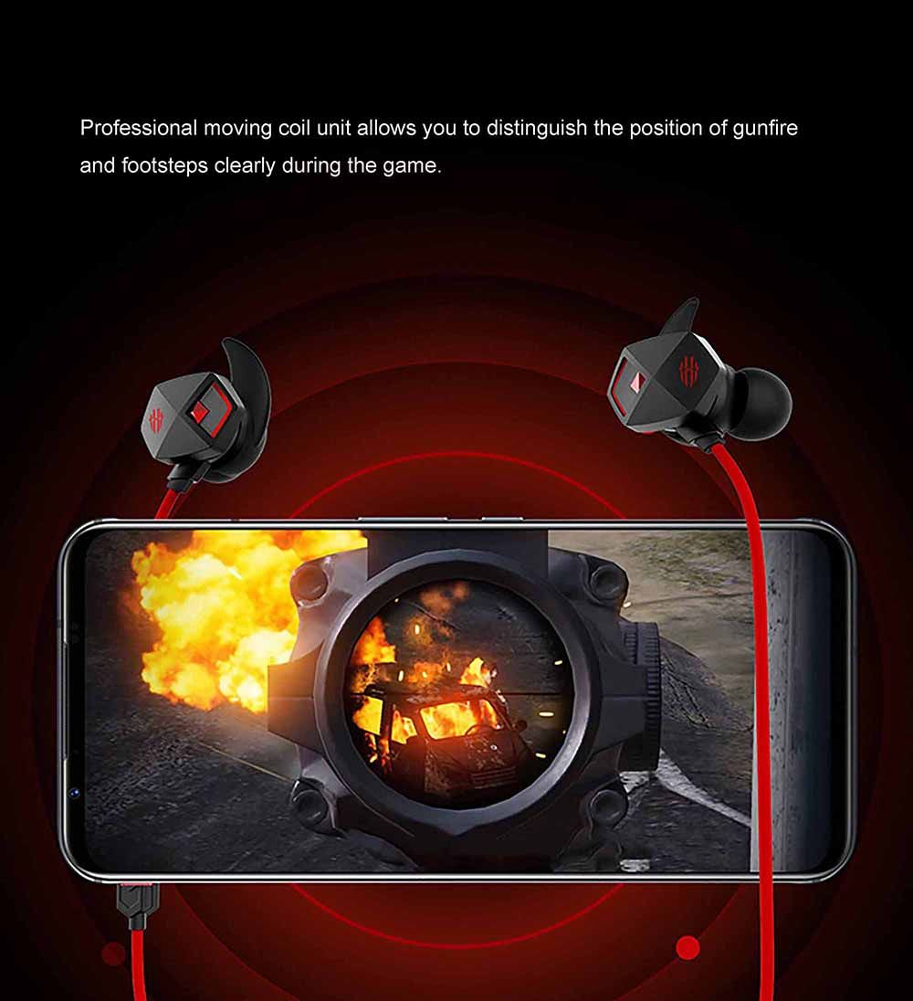 Nubia Red Magic Wired Gaming Earphones Type C Edition (3)