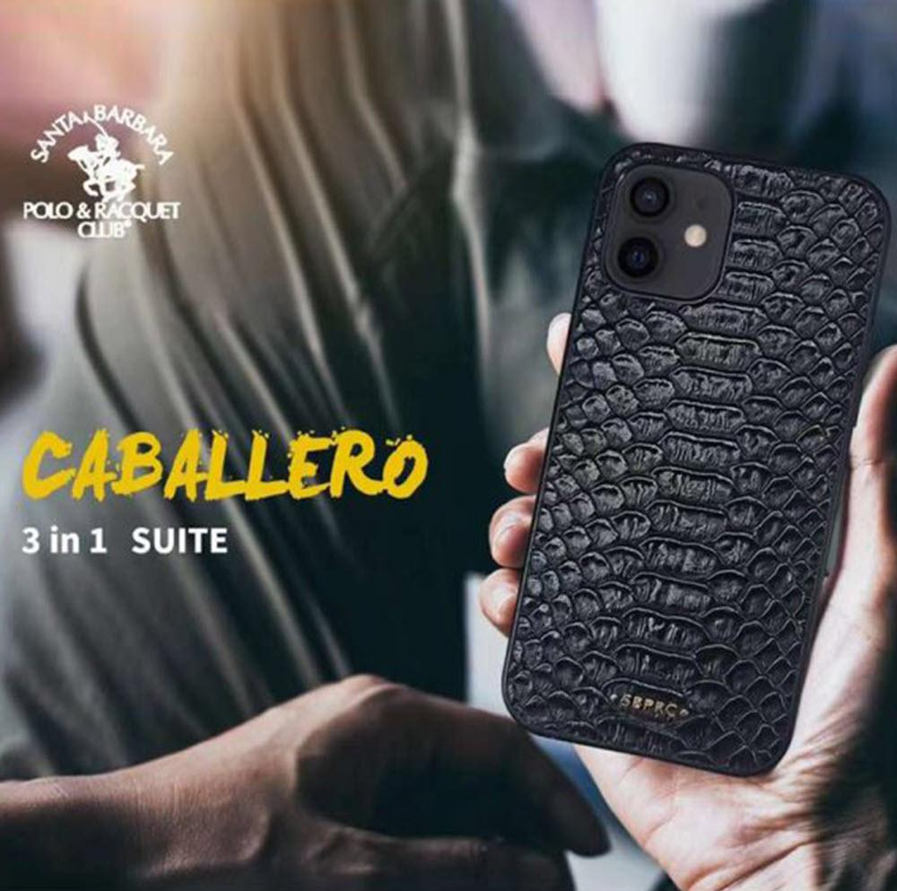 Santa Barbara Polo Racquet Club 3 In 1 Classic Leather Snake Skin Pattern C ( (3)