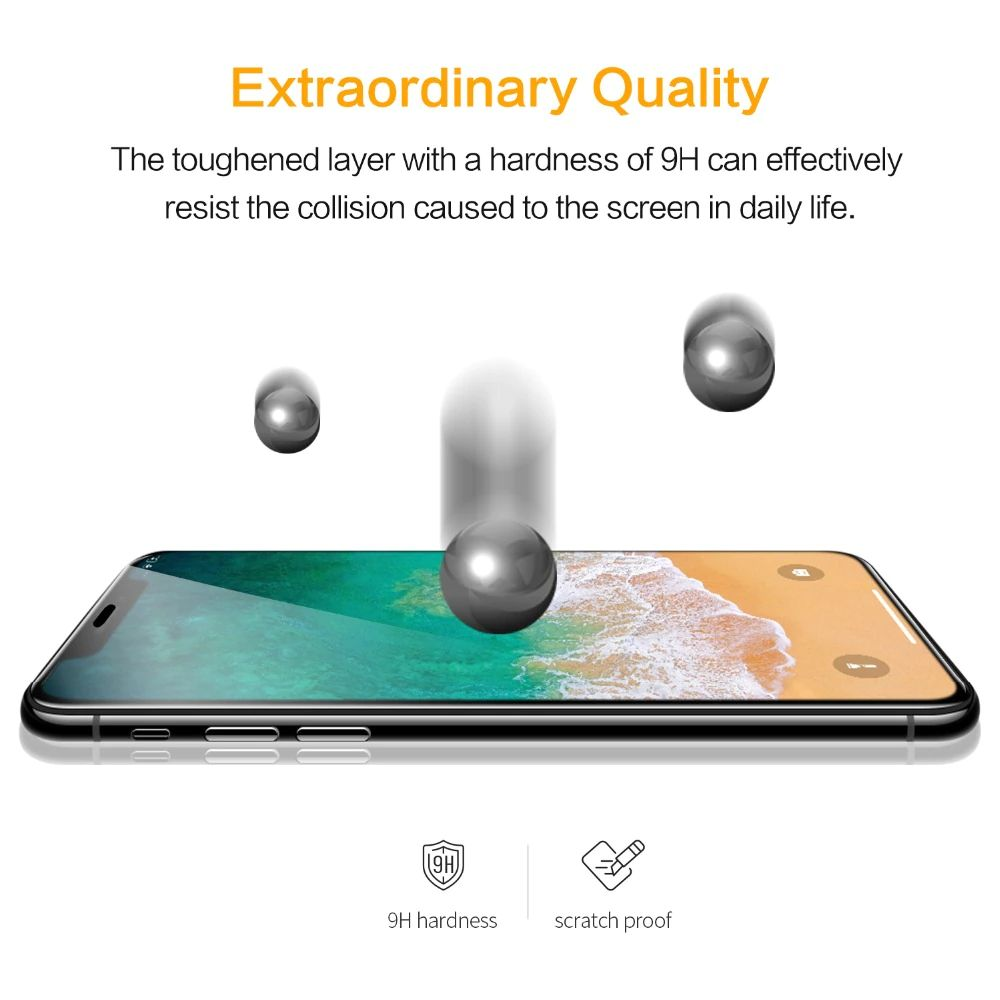 SmartDevil Amazing Full Screen Coverage Tempered Glass for iPhone XS, XS Max