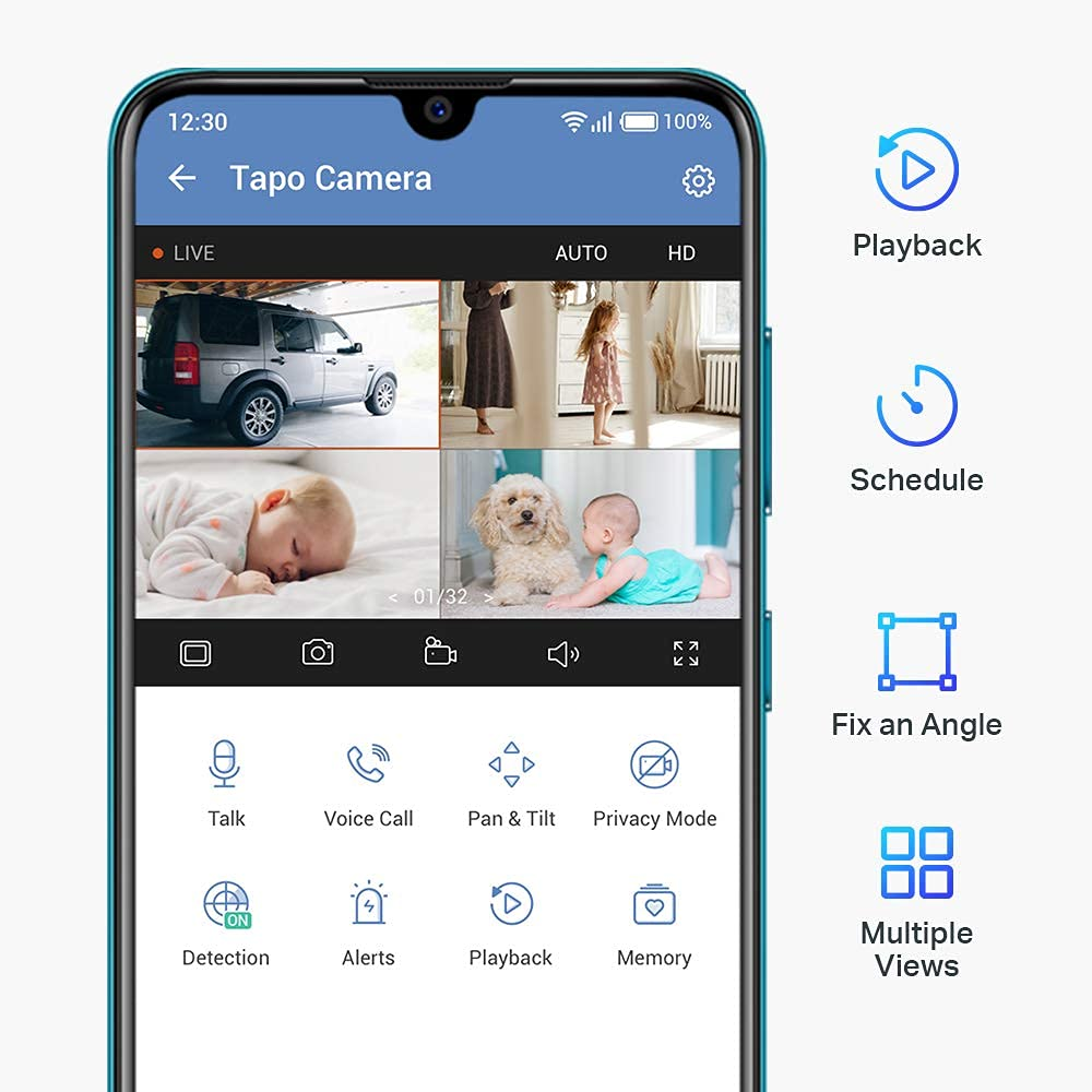 Tp Link Tapo C200 Pan Tilt Home Security Wi Fi Camera (2)