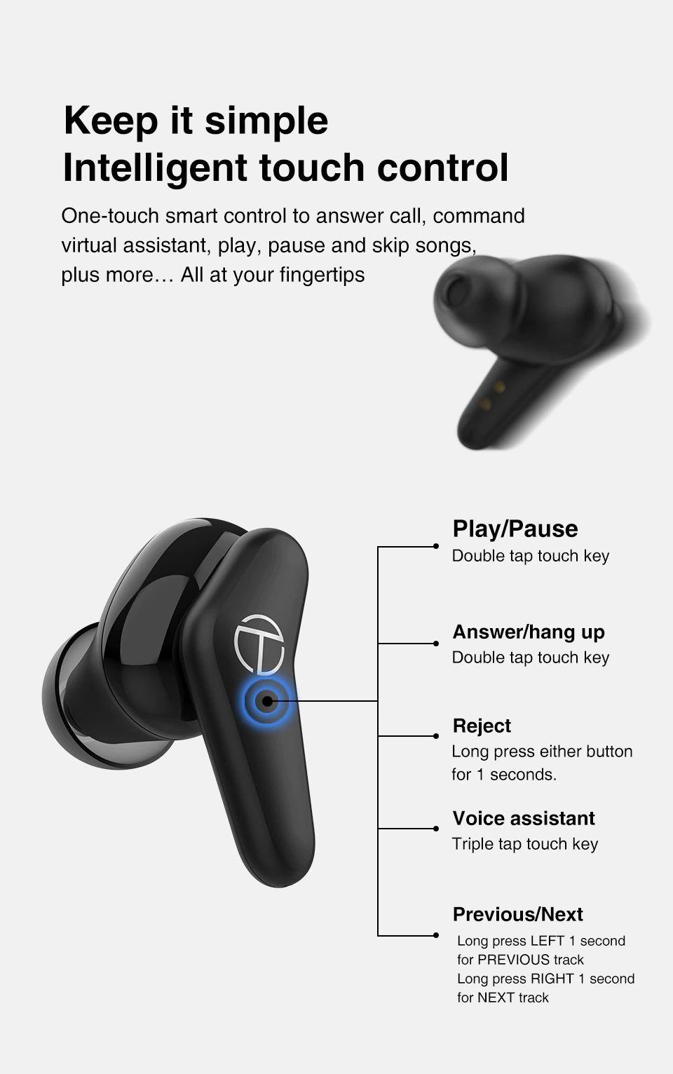 Trn Am1 Tws Dynamic Earbuds Bluetooth 5 0 (4)