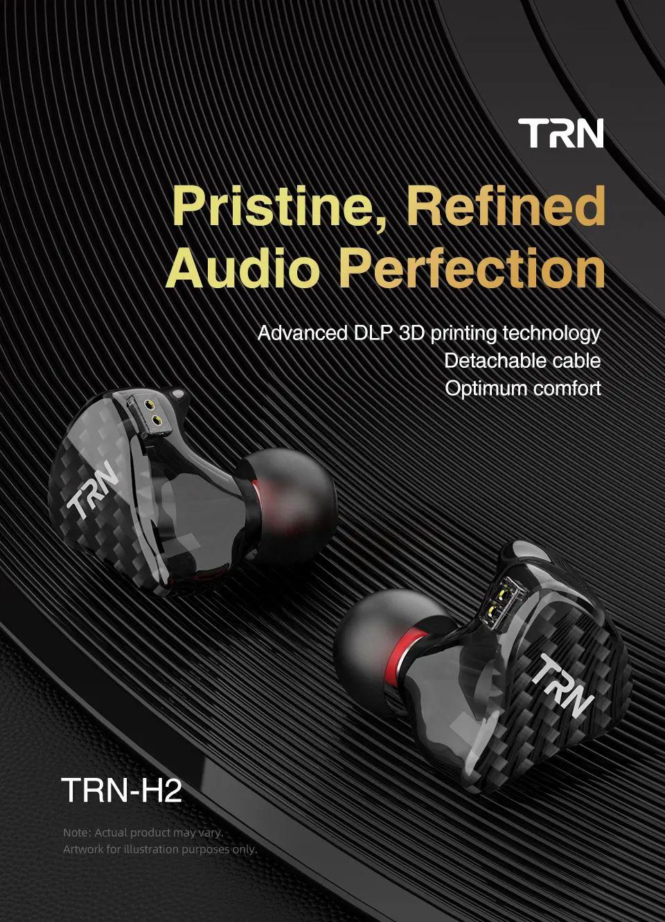 Trn H2 Dynamic Drive Monitor In Ear Earphone (1)