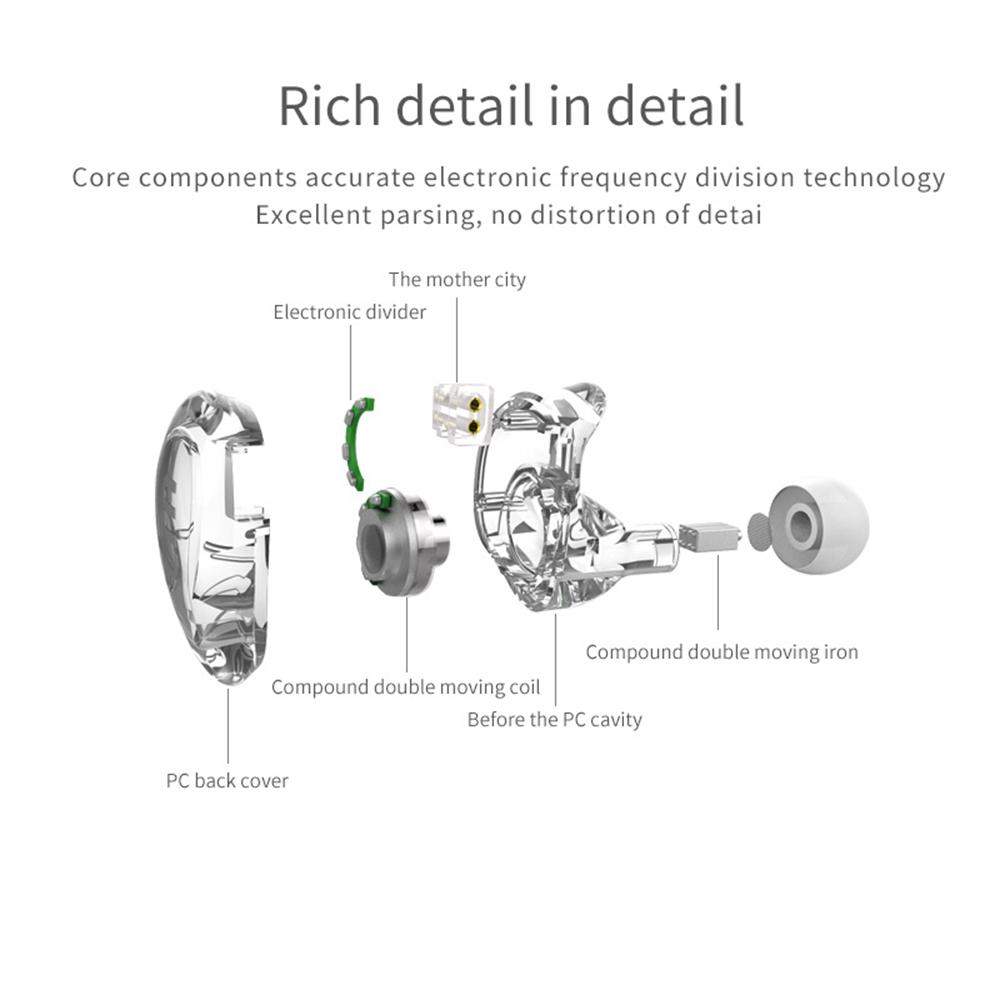 Trn V10 2dd With 2ba Hybrid In Ear Earphone (2)