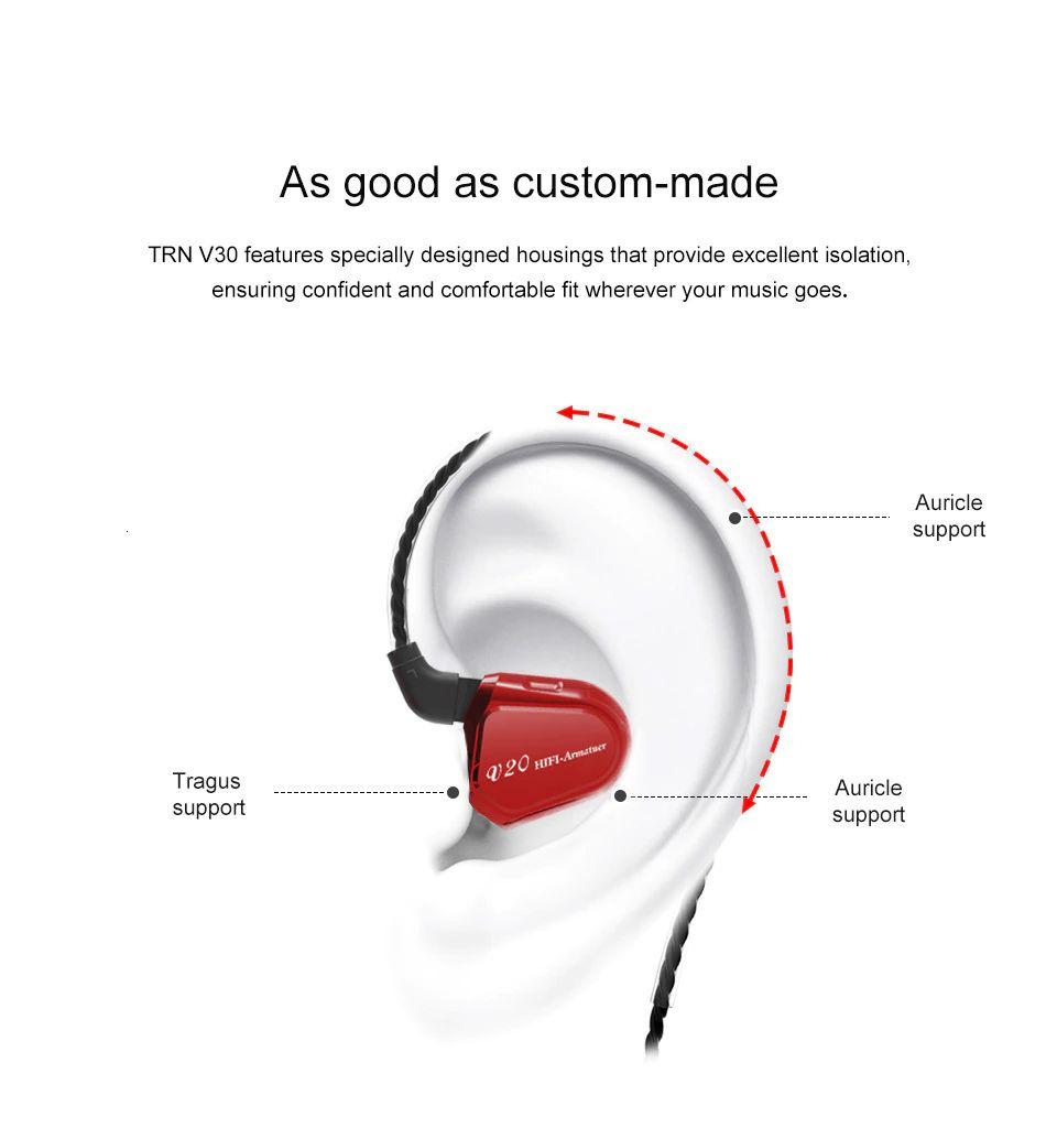 Trn V20 Hybrid In Ear Earphone (2)