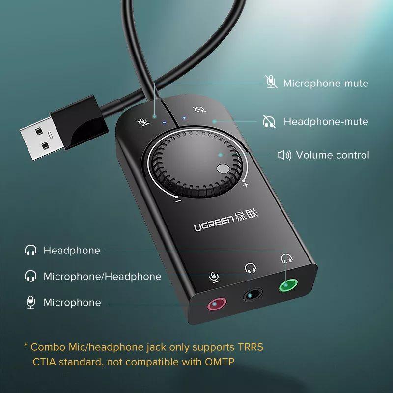 Ugreen Usb External Stereo Sound Card Adapter (1)