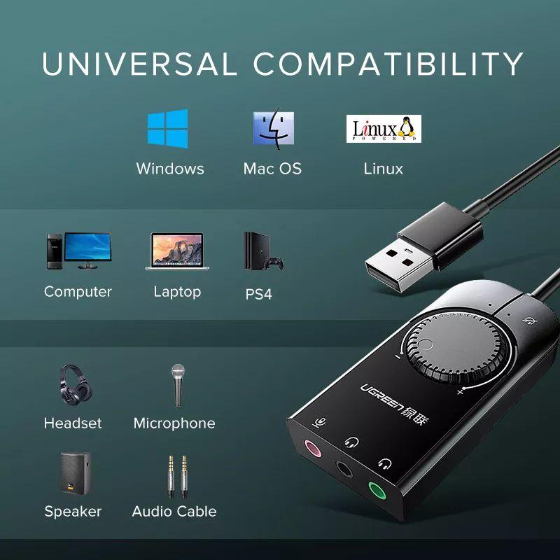 Ugreen Usb External Stereo Sound Card Adapter (4)