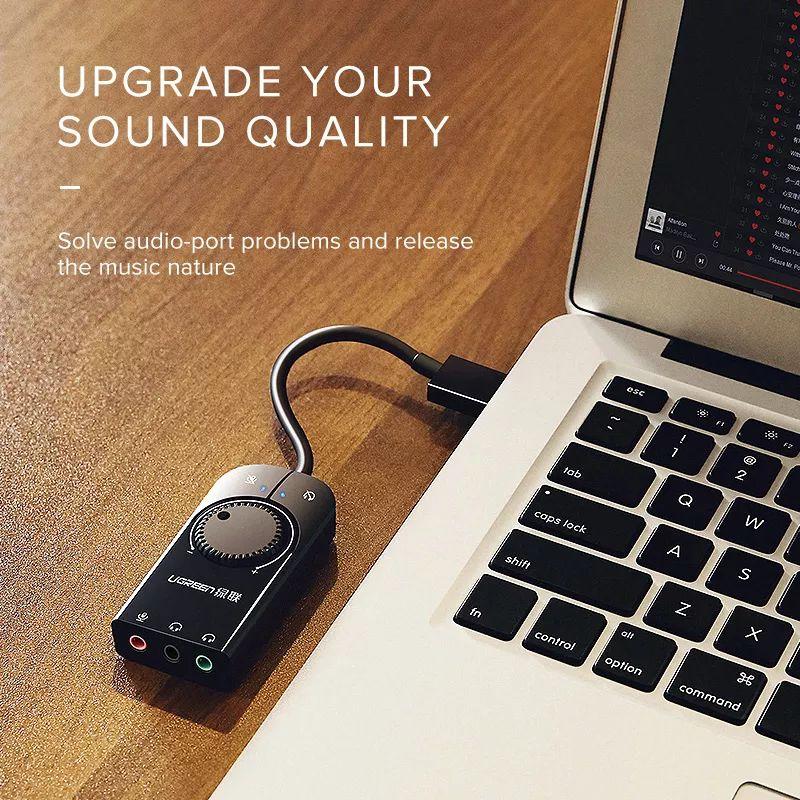 Ugreen Usb External Stereo Sound Card Adapter (5)
