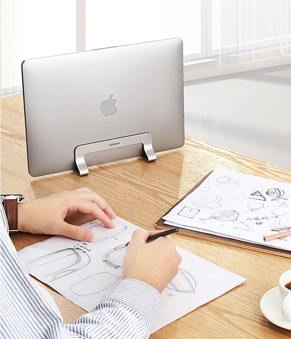 Ugreen Vertical Laptop Stand Holder Aluminum Adjustable Stand (3)
