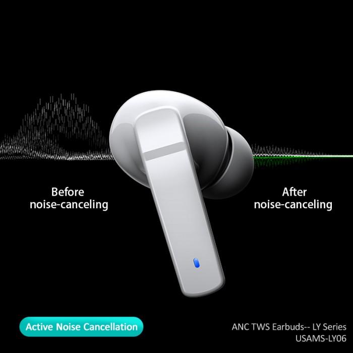 Usams Ly06 Ly Series Original Mini True Handsfree Mobile Wireless Anc Tws Earphone (2)