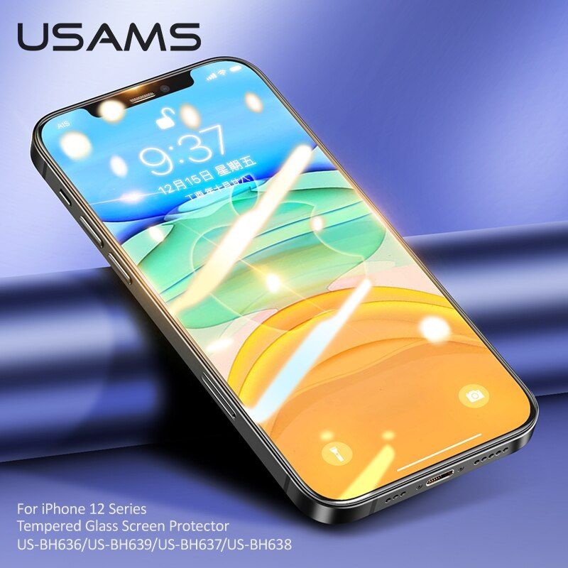 Usams Tempered Glass Screen Protector For Iphone 12 Series (3)