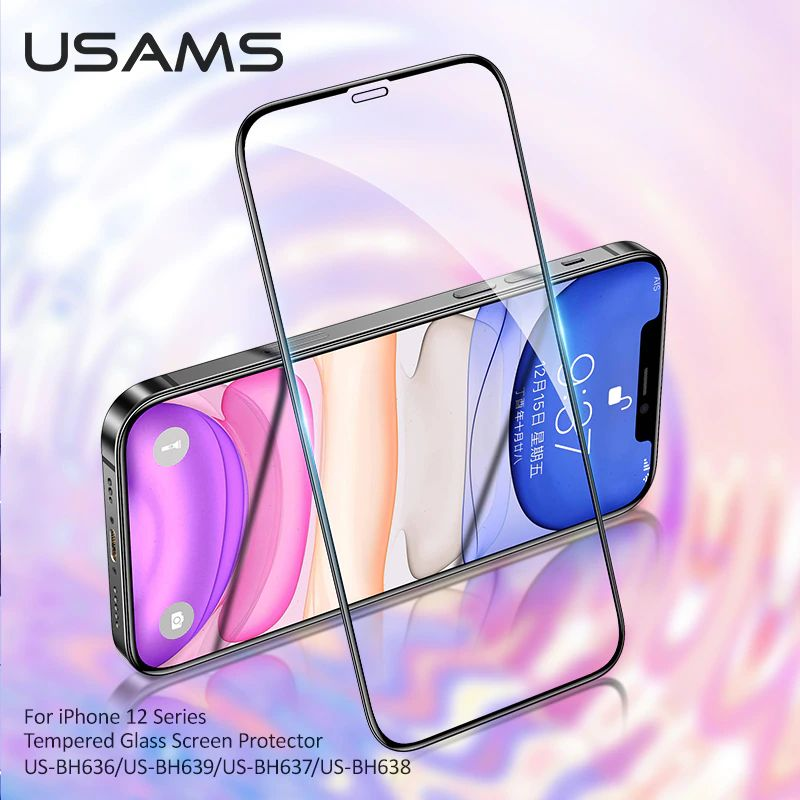 Usams Tempered Glass Screen Protector For Iphone 12 Series (4)